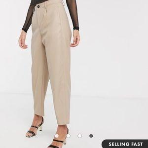 Mango faux leather pants